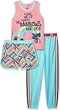 Freestyle Revolution Girls' Rainbow Dreams Sleep 3pc Set Tank, Shorts, Pants