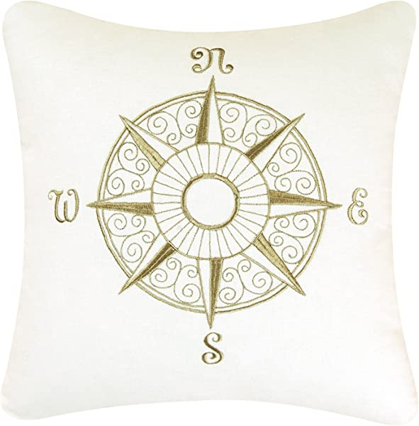 C F Home 842981560 Montpellier Embroidered Pillow 18 Inch By 18 Inch