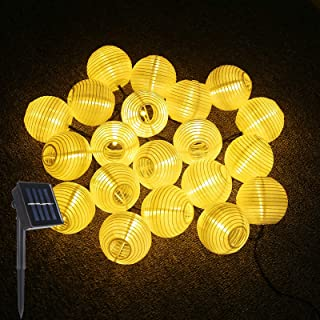 LED Catena Luminosa Lanterne Luci, ALED LIGHT IP65 20 LED Lanterna, Luce a Energia Solare da Giardino Interni e Esterni 4....