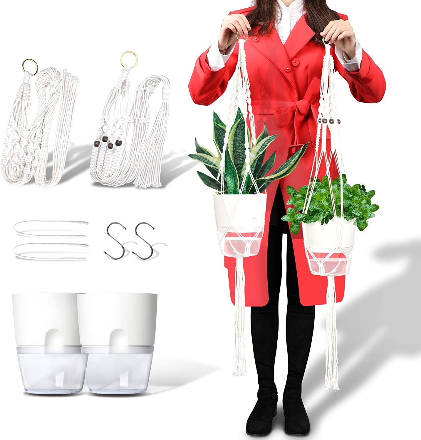 South Ocean Plant Hangers Omaha Mall with 5.9'' Pots In 2 shopping - Included of Set