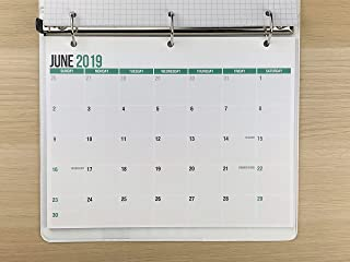 """2019-2020 Monthly Calendar Pad for Desk, Wall or Binder, June 2019 to December 2020, 11"""" x 8.5"""", Small Calendar, Thick Perforated Card Stock Paper, 2019-2020 Academic (19 Months)"""