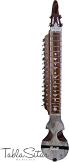 Maharaja Musicals Peacock Israj/Esraj, Floral Carving, Geared Tuning Pegs, Special Bow, Nylon Bag, Rosin, Extra String Set, Dark Finish, 4 Main Strings (PDI-AJH)