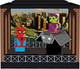 Bif Bang Pow! Spider-Man & Green Goblin Pin Mate Wooden Figures with Glider & Stackable Diorama - Convention Exclusive Action Figure