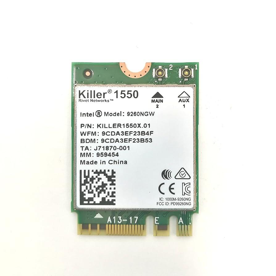 明確な両方プレゼンテーションHIDevolution Killer wireless-ac 1550?802.11?AC 2?x 2ワイヤレスカードW / Bluetooth 5.0、交換用for Killer 1535