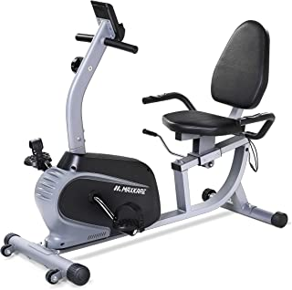 MaxKare Recumbent Exercise Bike Indoor Cycling Stationary Bike with Adjustable Seat and Resistance, Pulse Monitor/Phone Ho...