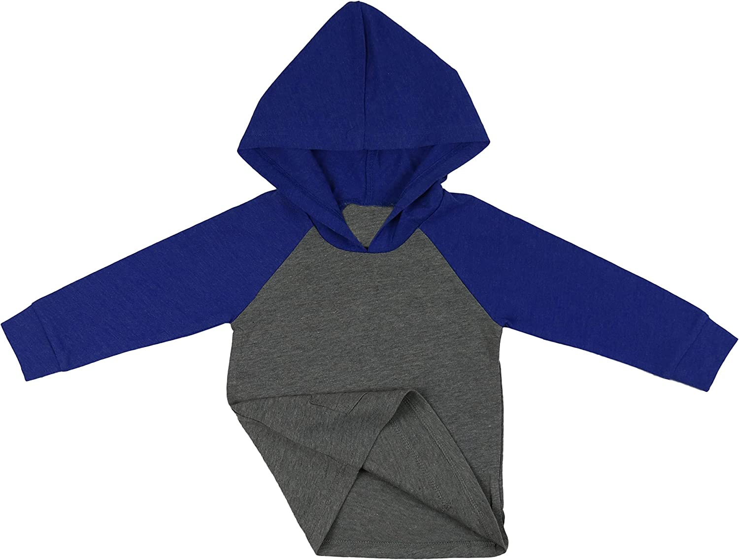 ToBeInStyle Infant Boys Girls Contrast or Solid Basic Hoodie Everyday Shirt