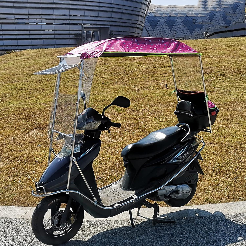 WYB Paraguas de Moto Scooter Mobility Sun Shade and Rain Cover, Universal Car Motor Scooter Umbrella Mobility Sun,B