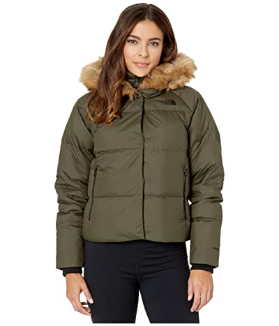 The North Face Deallo Down Crop Jacket (New Taupe Green) Women