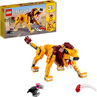 LEGO Creator 3in1 Wild Lion 31112 3in1 Toy Building Kit...