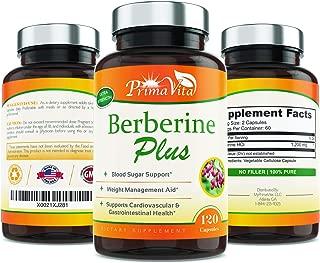Berberine Plus, 1200mg,100% Pure, Ultra Strength, 60 Day Supply, 120 Veggie Capsules