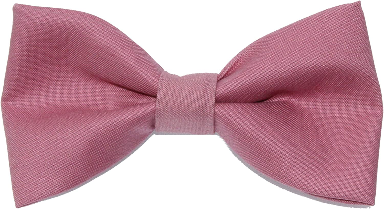 Men's Rose Pink Clip On Cotton Bow Tie Bowtie by amy2004marie