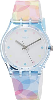 Swatch Womens Analogue Quartz Watch with Silicone Strap GS159