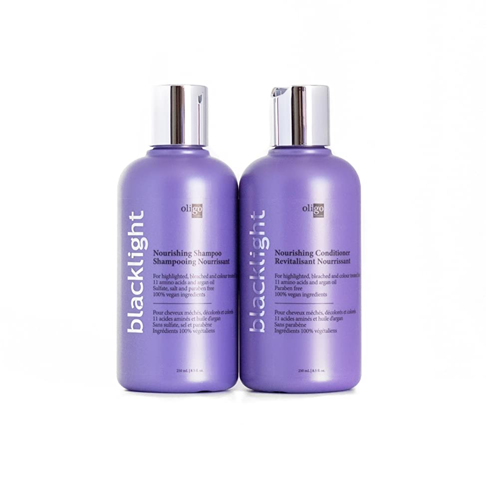 Oligo Professionnel Blacklight Oligo Blacklight Nourishing Shampoo and Conditioner 8.5 oz Duo Bundle