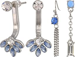 6-Pair Mixed Earrings Set including Studs and Drops