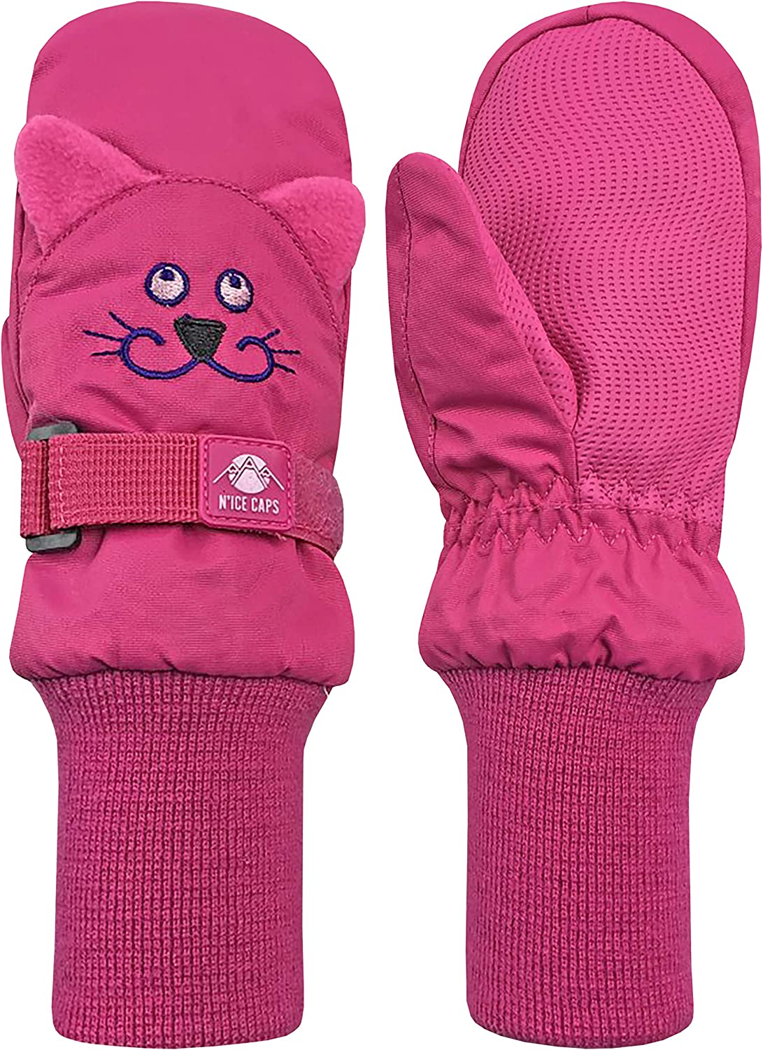 N'Ice Caps Little Kids Indianapolis Mall Cute Warm Winter Animal Faces Waterproof Rare