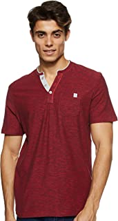 Tom Tailor Men's Fine Striped Henley T-Shirt