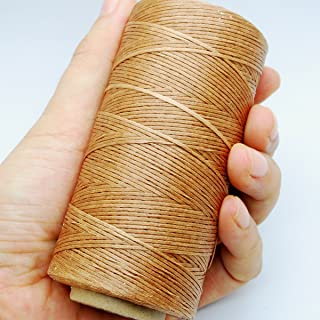 284yrd light brown Leather Sewing Waxed Thread 150D 1mm Leather Hand Stitching 125g