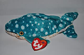 TY Poseidon the Whale Shark Beanie Baby by TY~BEANIES AQUATIC
