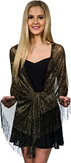 black and gold shawl