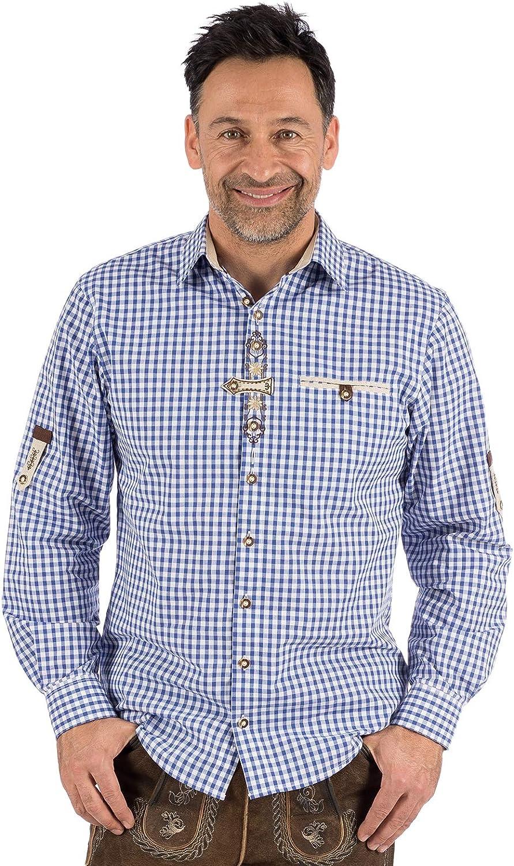 OS-Trachten 国内正規総代理店アイテム German 予約販売品 Traditional Shirt Sleeve Long DACHSTEIN Blue