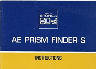 Bronica SQ-A AE Prism Finder S Original Instruction Manual