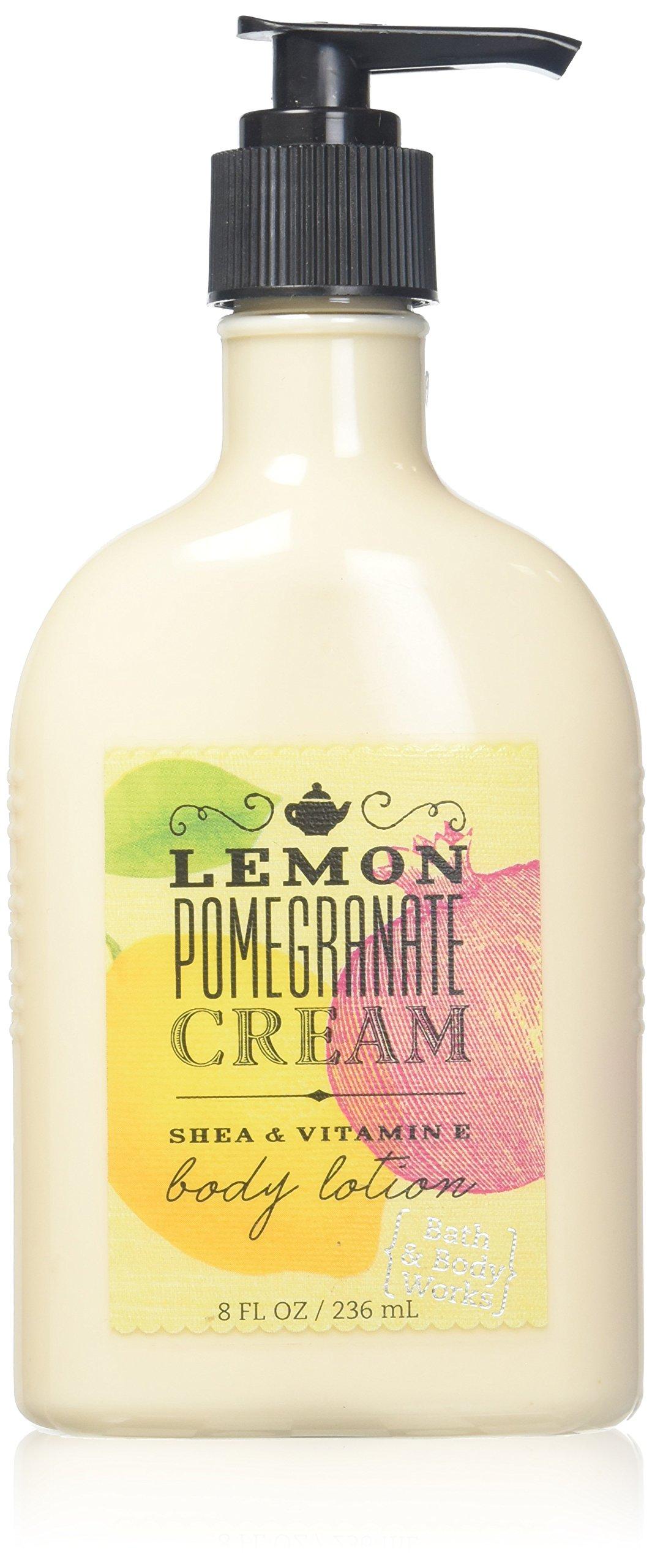 Bath and Body Works Lemon Pomegranate Cream Moisturizing Body Lotion 8 Ounce Full Size Pump Bottle
