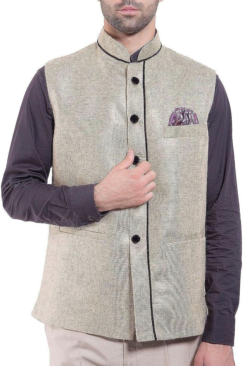 WINTAGE Men's Rayon Bandhgala Festive Nehru Jacket Waistcoat - 19 Colors
