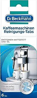 Dr. Beckmann Kaffeemaschinen Reinigungs-Tabs   entfernen Kaffeefett und -öl   mit Aktiv-Sauerstoff 6 Tabs