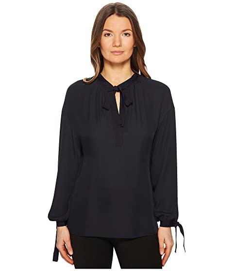9b9bedfa7d1717 Vince Tie Front Poet Blouse at 6pm