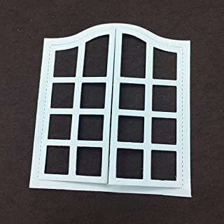 Window Metal Cutting Dies for Card Making, NOMSOCR Cut Die Metal Stencil Template Mould for DIY Scrapbook Embossing Album Paper Card Craft Birthday Festival Decoration (Window)