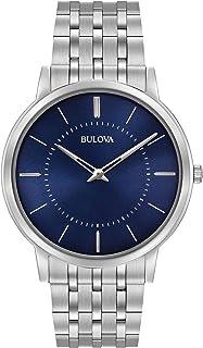 Bulova - 96A188 - Reloj de Pulsera de Diseño para Hombre - Ultrafino - Acero Inoxidable - Esfera Azul