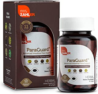 New! Zahler ParaGuard, Advanced Digestive Cleanse, Intestinal Support for Humans, Contains Wormwood, Certified Kosher 90 Tiny Softgels