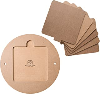"""Bat System for Potter's Wheel, 12"""" Round Outer Bat with Set of Six 7"""" Square Inner.."""