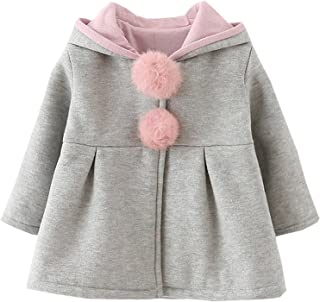 RJXDLT Baby Girl's Toddler Kids Fall Winter Coat Jacket Outwear Ear Hoodie Sweatshirt