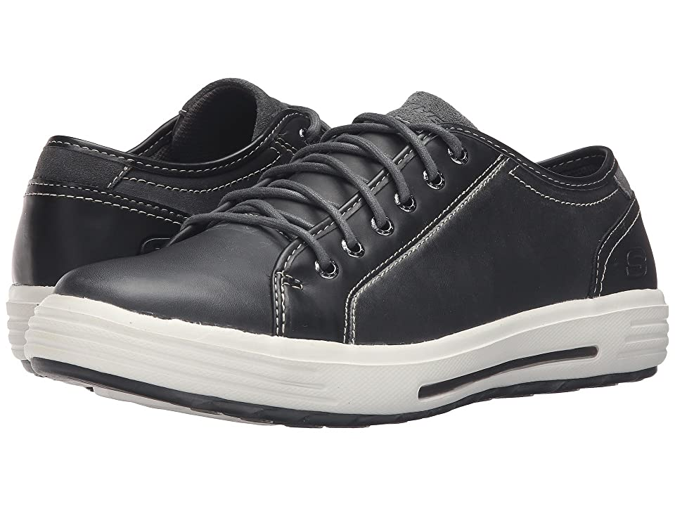 SKECHERS Classic Fit Porter Ressen (Black Leather) Men