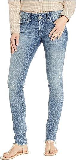 R.E.A.L.™ Skinny Leopard Jeans in Blue Leopard