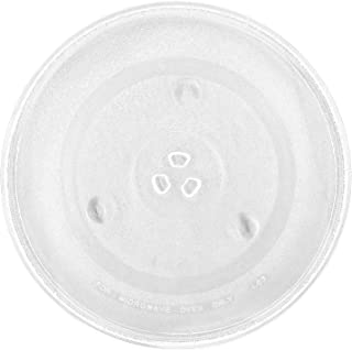 """12.5'' Microwave Glass Plate Turntable 12 1/2"""" With 3 Part Bushing Couplers Centerpieces, Round Rotating Dish Tray for Mic..."""