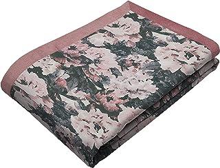 McAlister Textiles Camille Couverture en Velours | Luxe Chemin de Lit, Canapé et Fauteuil à Motif Fleurs - Accessoire - 26...