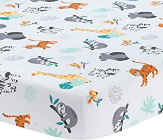 Bedtime Originals Mighty Jungle Fitted Crib Sheet, Multicolor (283006B)