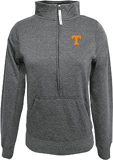 Adult Women ½ Zip Fleece Sweatshirt, Gray, Large