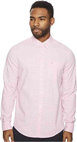 Original Penguin - Long Sleeve Stretch Gingham Shirt