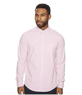 Long Sleeve Stretch Gingham Shirt