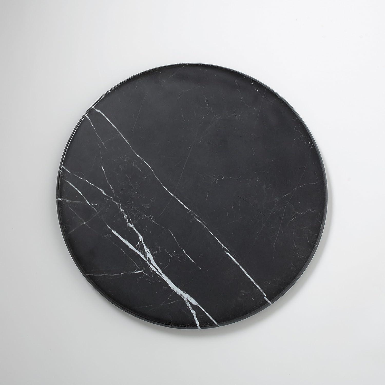 American Metalcraft MB171 Melamine Serving Round Board, Marble, Black, 17 1 4-Inch Diameter