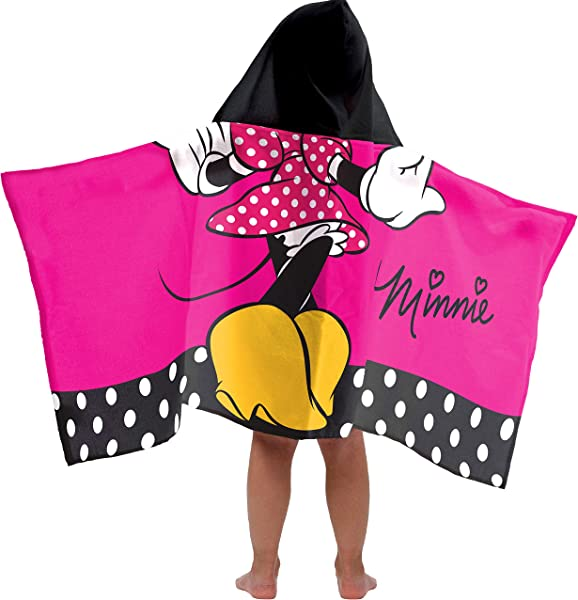 Jay Franco Minnie Mouse Classic Super Soft Absorbent Kids Hooded Bath Pool Beach Towel Fade Resistant Cotton Terry Towel 22 5 Inch X 51 Inch Official Product