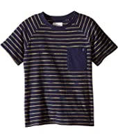 Lucky Brand Kids - Space Dye Striped Tee w/ Front Pocket (Little Kids/Big Kids)