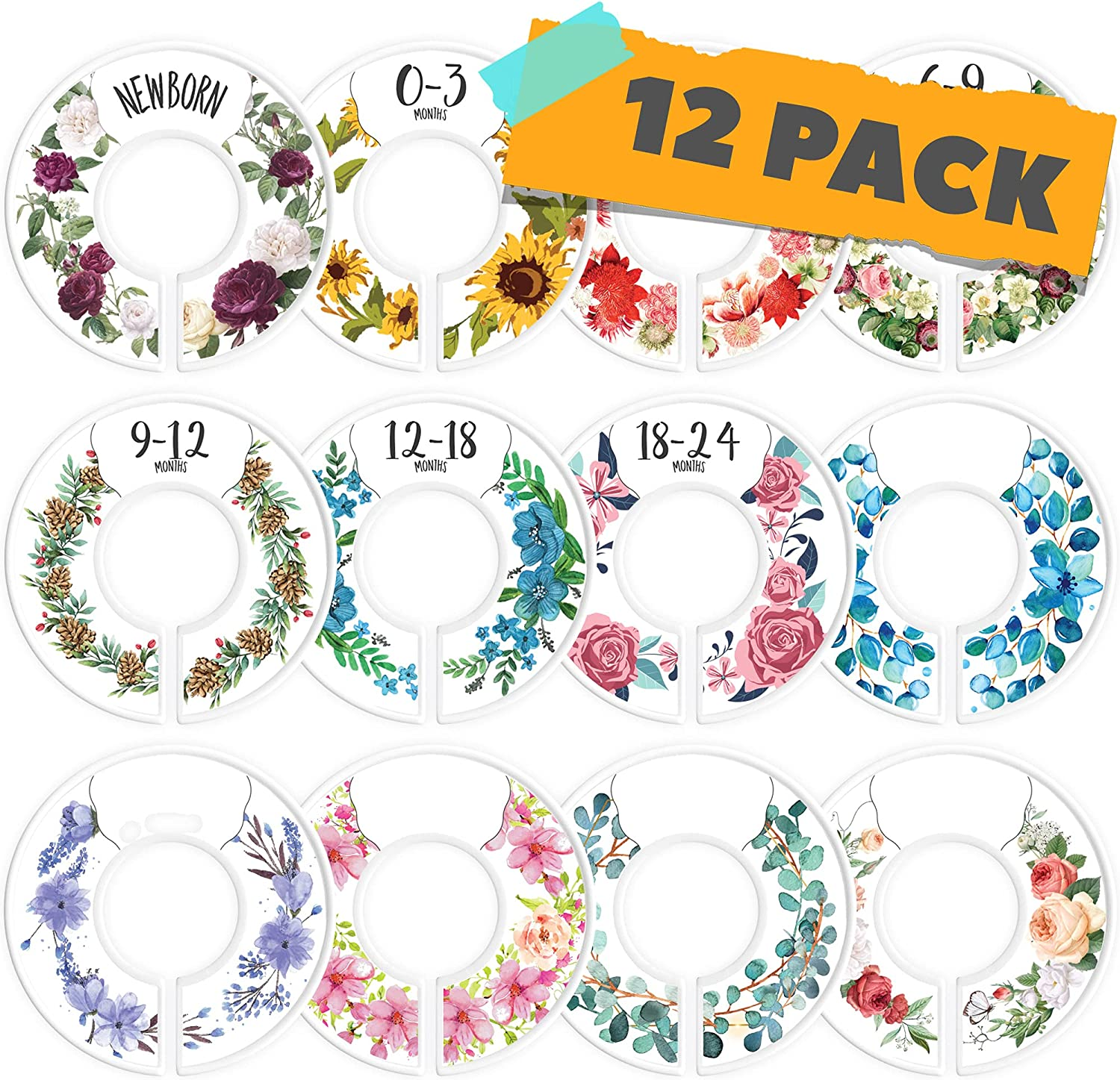 CORRURE Limited time for free shipping Baby Closet Size Dividers - 12 Di Set Low price of Complete