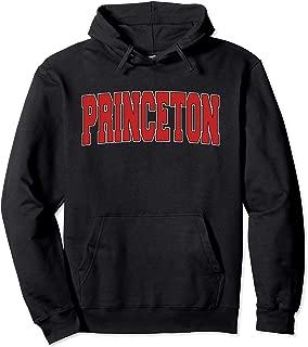 PRINCETON NJ NEW JERSEY Varsity Style USA Vintage Sports Pullover Hoodie