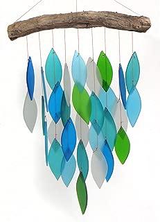 Blue Handworks Glass Waterfall Wind Chime, Ocean Blue