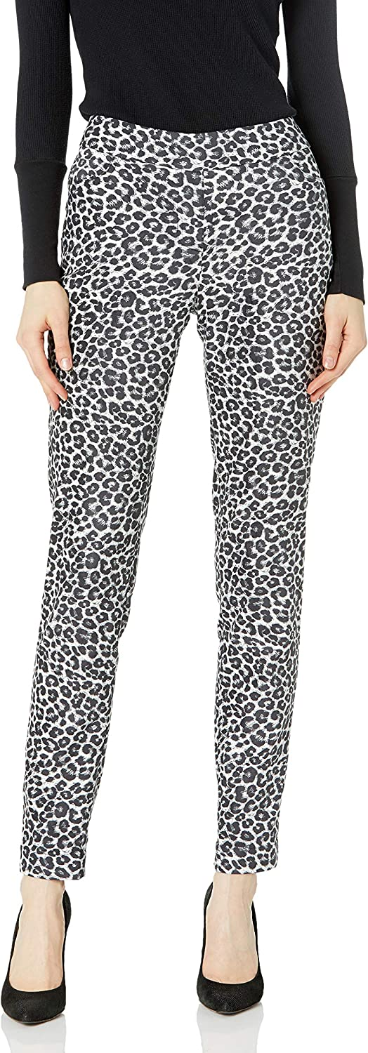 SLIM-SATION Women's Misses Pull on Print Re Challenge the lowest price Lowest price challenge of Japan ☆ Suede with Faux Pant