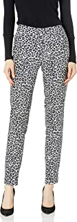 SLIM-SATION womens Pull On Print Faux Suede Pant With Real Front/Back Pockets Pants